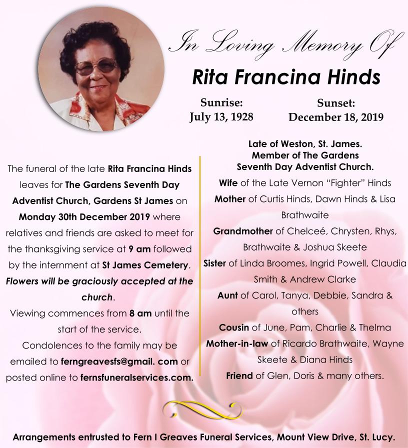 Rita Obit