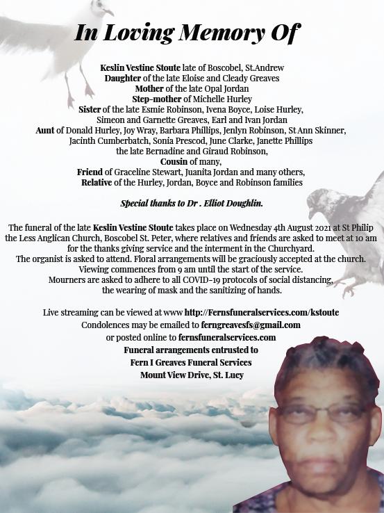 Keslin Vestine Stoute Obituary